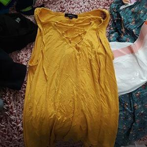 Ambiance yellow tank top